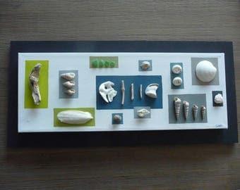 Seaside - seashells and Driftwood table decor spirit