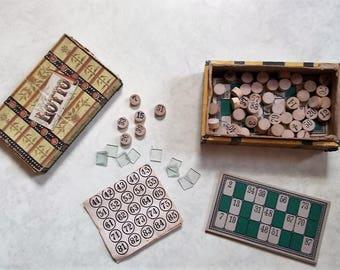 Vintage 1950s Milton Bradley LOTTO/BINGO Game