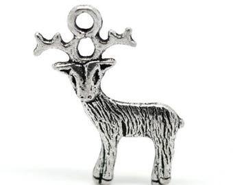 Pendant deer / reindeer silver 24x19mm