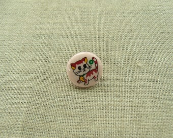 Kids decorative buttons - model kittens