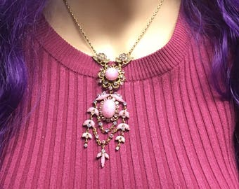 Fabulous floral vintage necklace