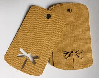 Dragonfly Gift Tags- Gold