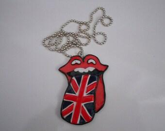 Necklace - Language with Union Jack flag