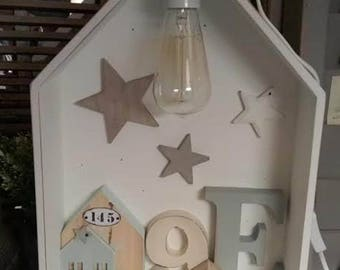 HOUSE LAMP NUMBERS AND LETTER