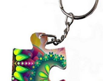 Personalized puzzle keychain