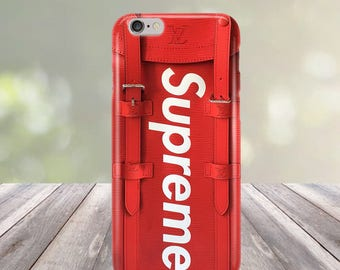new design Courrier Red Supreme Fashion iPhone 4/4S 5/5S/SE 5C 6/6S 7 8 Plus X Case Cover
