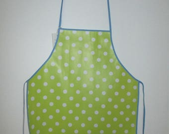 lime green 1/2 years of oilcloth child kitchen apron