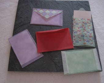 Small envelopes, scrapbooking, embellishments