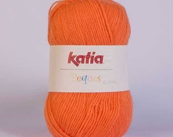 Ball of yarn KATIA PEQUES Orange