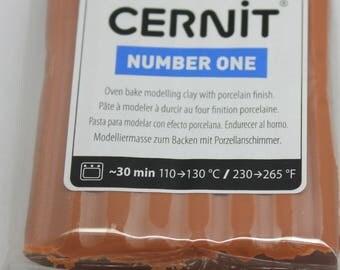 Polymer clay CERNIT Number One color-CARAMEL - 56 Gr
