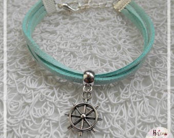 My pendant and Blue Suede sailor boat bracelet