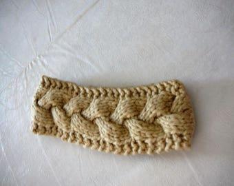 hand knit cable headband