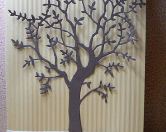 tree of life and bee kraft card