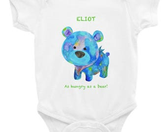 Bears onesie etsy personalized unique bear onesies designed printed in california baby shower giftartsy negle Image collections