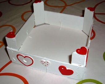 Valentine's day: white box with hearts