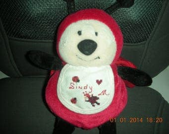 Ladybug lucky red and black with bib