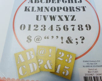 alphabet letter number number 12 stencils and some punctuation and computer