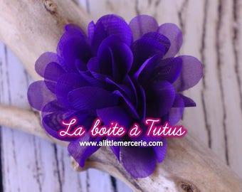 ★ Flower Applique fabric Lily chiffon strapless headband diy belt ★ VIOLET purple