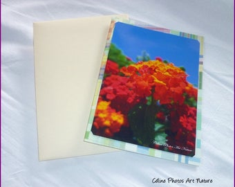 """Double 10 5x15cm made from a photo of sunny flowers """"Colors of the South"""""""