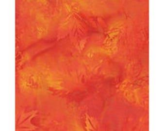 batik patchwork fabric tone on tone orange ref ib76h41