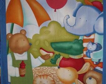 Kids animal quilt Panel