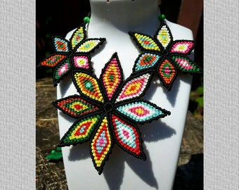 Divine Flower Macrame Necklace