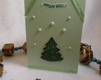Christmas card, Merry Christmas tree