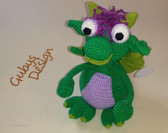 "Crochet Dragon ""Charly"""