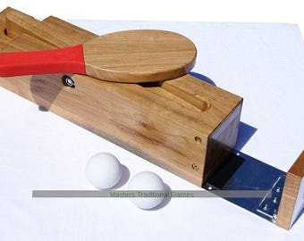 Full Size League standard solid Oak Bat and Trap Starter set