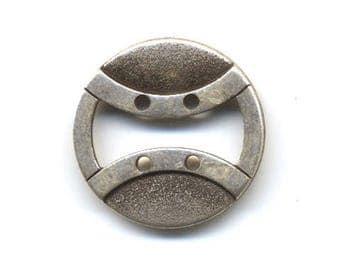 Silver fancy Metal button