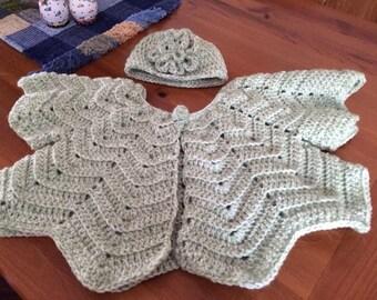 Toddler Crocheted Angel Coat