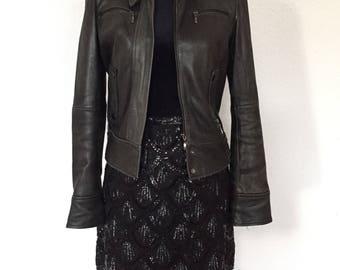 Skirt black sequins - size 40
