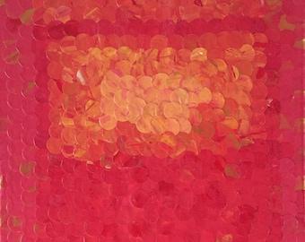 Orange on Pink No. 2