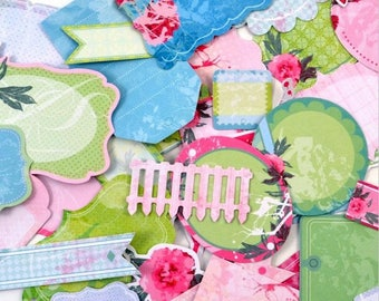 Embellishments - Die cuts - Peony Mint - shapes x 36 - Toga - new