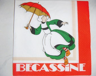 "Pretty NAPKIN pattern ""Bécassine 3"""