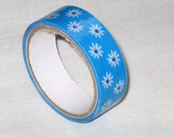 "Ribbon tape/masking tape ""Daisy Blue"" to 1.5 cm (5 m)"