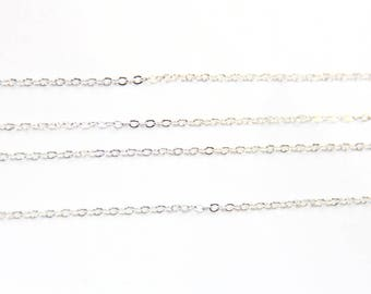 The meter meshed silver metal chain