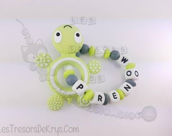 100% silicone teething turtle toy