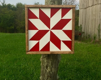 Starburst Mini Barn Quilt