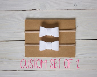 Baby Headband, Bow Headband, CUSTOM SET OF 2