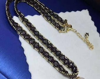 Pearl collar, natural freshwater pearl 8-8.5 mm