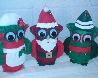 Owl Family Standing Set - 3 pc