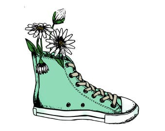 Converse with Daisies