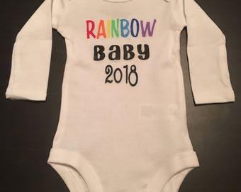 Rainbow baby body suit