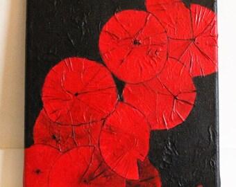 -Umbrella Red - painting 24 x 30 cm