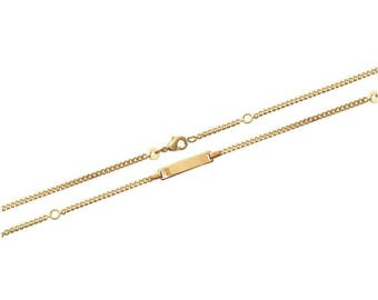Plated mixed chain bracelet gold 15 cm / 60283215