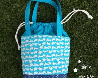 Bag in blanket form basket lunch bag
