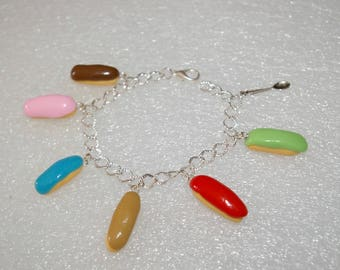 Bralecet multicolor flashes in polymer clay charms
