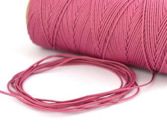 Pink 0.5 mm polyester cord