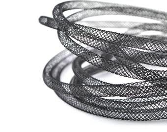 5 meters of cord FishNet tubular 4mm black color